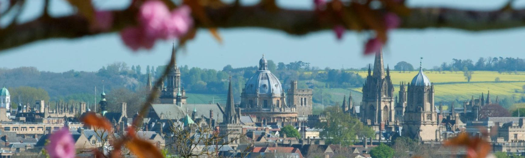Oxford skyline from hill