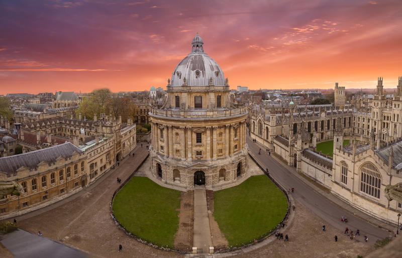 Radcliffe Camera at sunset