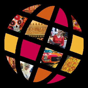 Language Center logo with Spanish scenes