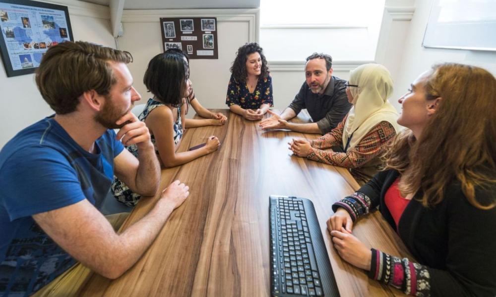 Students learning at the Language Centre. Photo credit: Ian Wallman